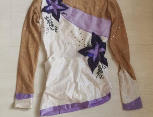 Justaucorps Blanc/violet
